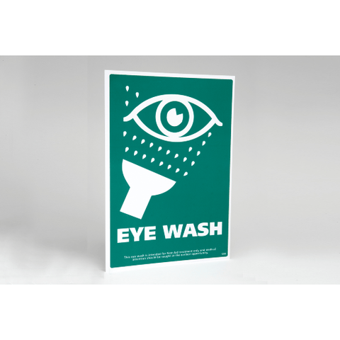 Eye Wash Sign  eye care, eye wash, eyewash, sign  4.75 STAC First Aid