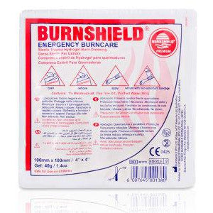 Burnshield Dressings 10CM x 10CM  burn gel, burns, burnshield  2.75 STAC First Aid