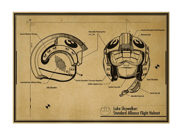 Luke Skywalker Alliance Flight Helmet Design
