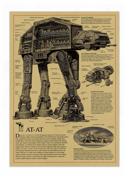 Star Wars AT-AT Design Drawing