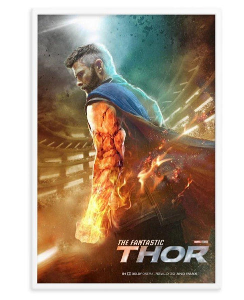 "BossLogic ""Fantastic Thor"" Print + Wooden Frame - Cult of Geek"