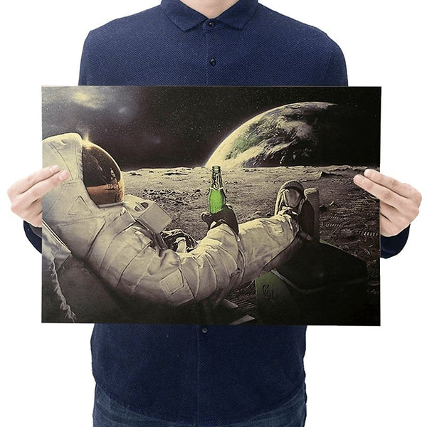 Drinking on the Moon Astronaut Print - Cult of Geek
