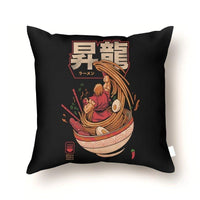 "Pedro Josue Carvajal Ramirez ""Spicy Shoryu Noodles"" Throw Pillow - Cult of Geek"