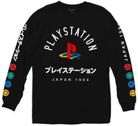 Playstation Japanese Colored Button Long Sleeve Shirt - Cult of Geek