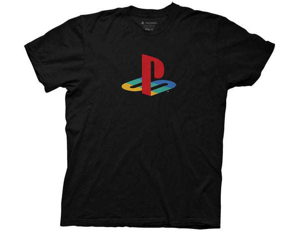 Playstation Logo Black T-Shirt - Cult of Geek