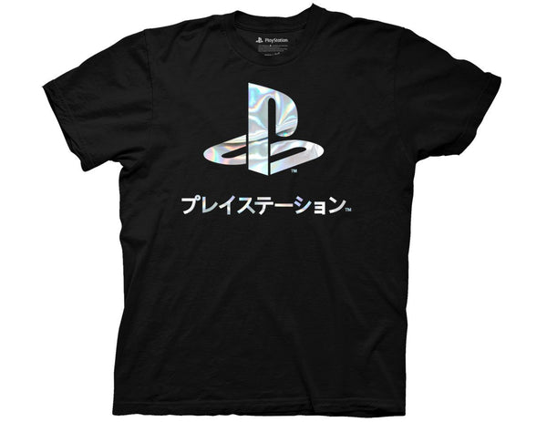 Playstation Logo Foil T-Shirt - Cult of Geek