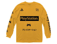 Playstation Symbols with Sleeve Hits Long Sleeve Crew T-ShirT - Cult of Geek