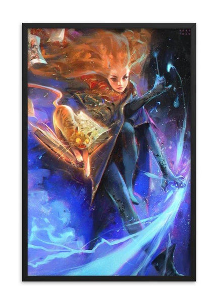 "Ross Tran ""Hermione"" Print + Wooden Frame - Cult of Geek"
