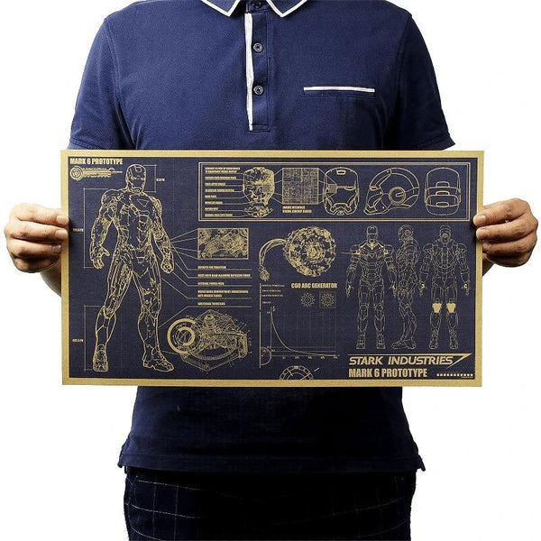Stark Industries Mark 6 Prototype Schematics - Cult of Geek