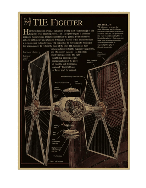 Star Wars Tie Fighter Design Drawing