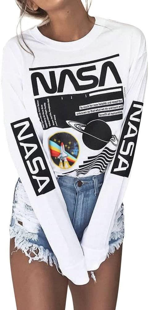 Women NASA Graphic Long Sleeve Shirt - Cult of Geek