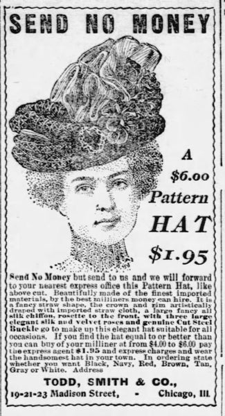 1901 newspaper clipping, the first mention of Todd-Smith & Co. I could find