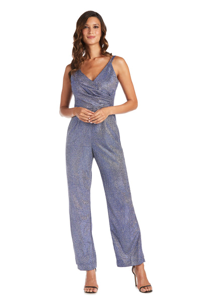 Nightway Petite Shimmer Jumpsuit with Mock Wrap