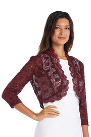 Lace Bolero with Scalloped Edges