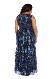Sleeveless Maxi Dress with Sash Tie and Embroidery