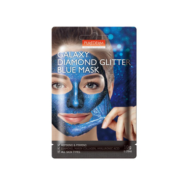 Galaxy Diamond Glitter Blue Mask