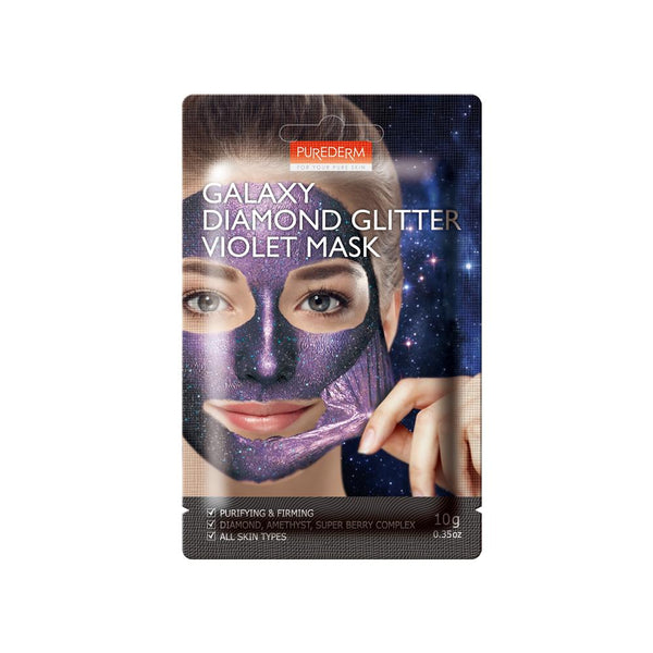 Galaxy Dimond Glitter Violet Mask