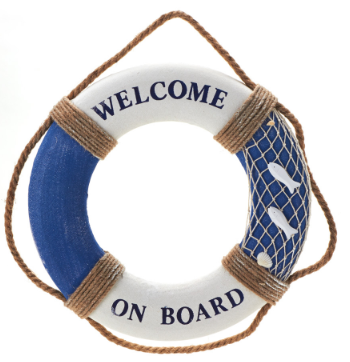 Decorative Wooden Life Preserver