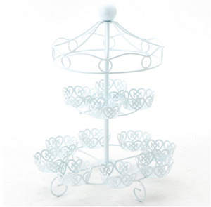 2 Tier Metal CupCake Stand