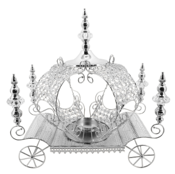 Crystal Pumpkin Carriage Candle Holder