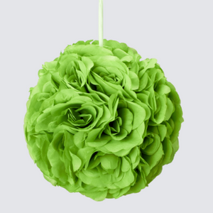 Large Rose Silk Flower Pomander Kissing Ball