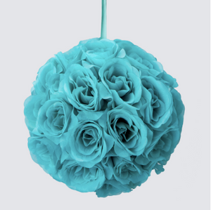 Rose Silk Flower Pomander Kissing Ball
