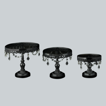 Metal Cake Stand With Glass