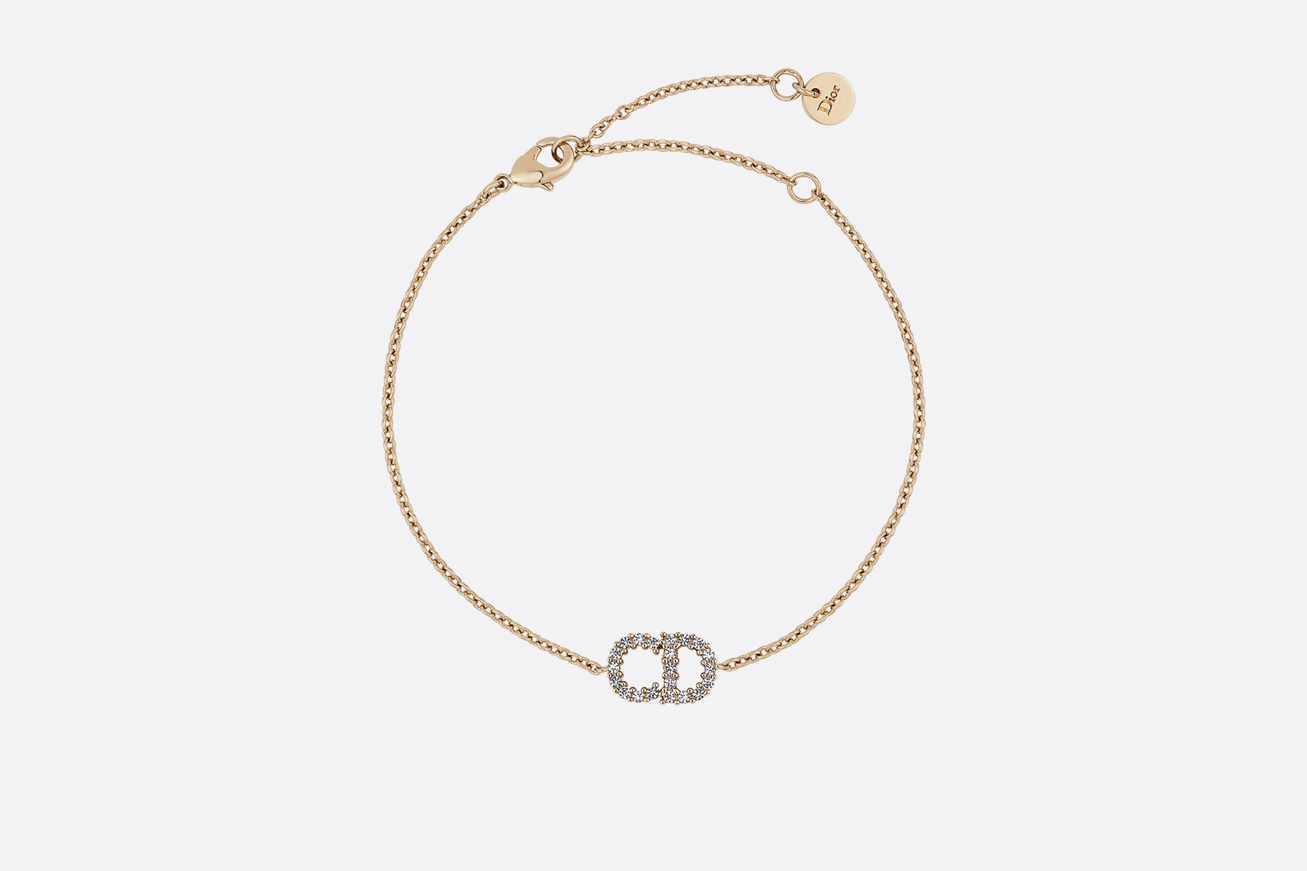 Clair D Lune Bracelet • Gold-Finish Metal and White Crystals