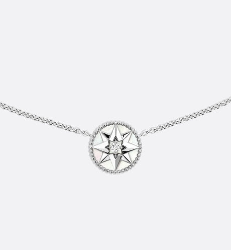 Rose des Vents Necklace • 18K White Gold, Diamond and Mother-of-pearl
