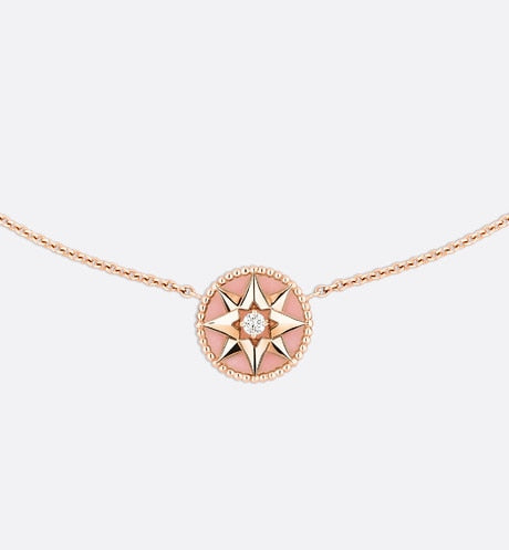 Rose des Vents Necklace • Rose Gold, Diamond and Pink Opal