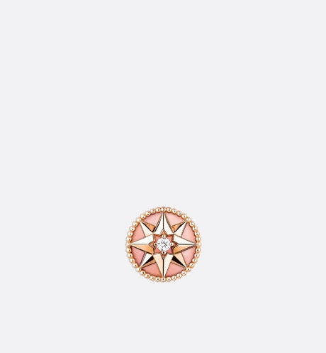 Rose des Vents Earring • Rose Gold, Diamond and Pink Opal
