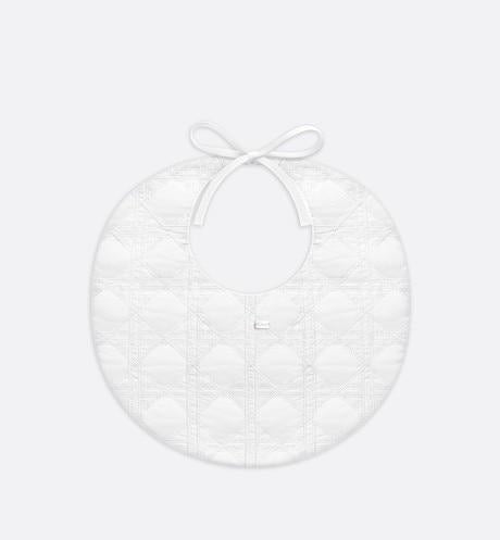 Bib • White Cotton Poplin Embroidery