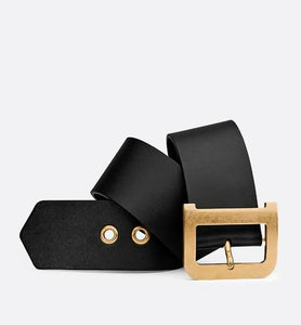 Diorquake Belt • Black Smooth Calfskin, 55 MM