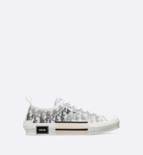 B23 Sneaker • White Dior Oblique Technical Fabric