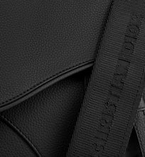 Load image into Gallery viewer, Saddle Bag • Black Grained Calfskin