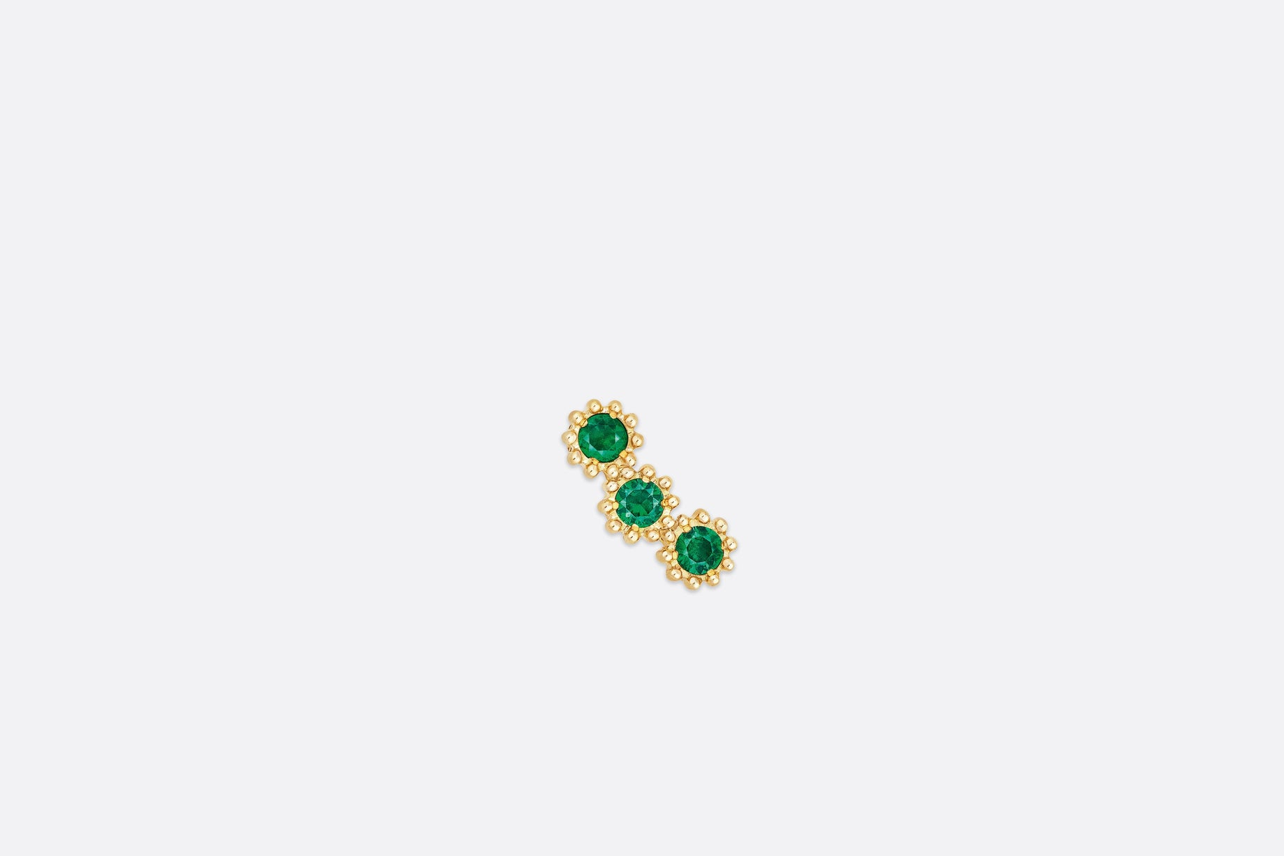 Mimirose Earring • Yellow Gold and Emeralds