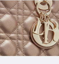 Load image into Gallery viewer, Medium Lady Dior Bag • Metallic Pale Bronze Cannage Grained Calfskin