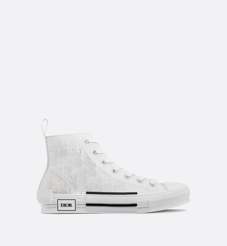 B23 High-Top Sneaker • Dior Oblique Technical Canvas and White Calfskin
