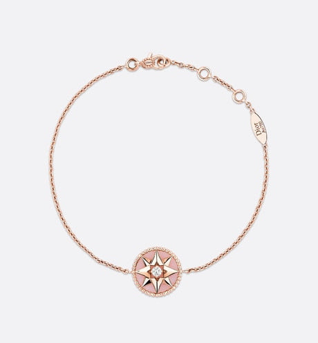 Rose des Vents Bracelet • Rose Gold, Diamond and Pink Opal