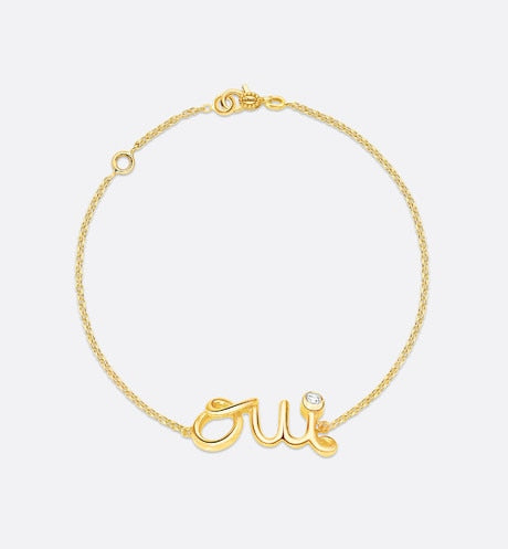 Oui Bracelet • Yellow Gold and Diamond