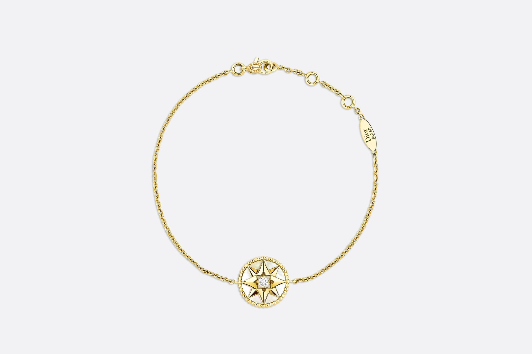 Rose des Vents Bracelet • Yellow Gold, Diamond and Mother-of-pearl