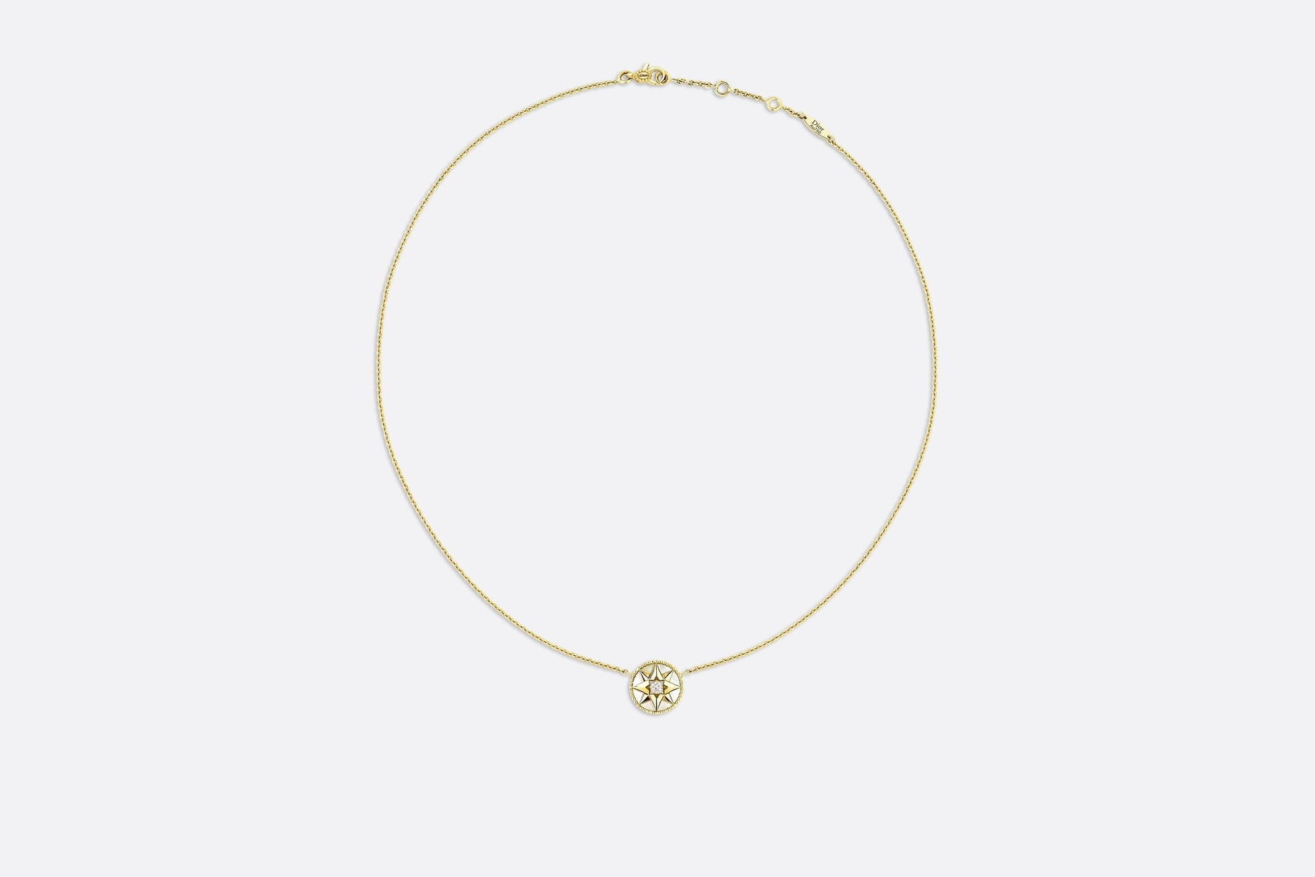 Rose des Vents Necklace • Yellow Gold, Diamond and Mother-of-pearl