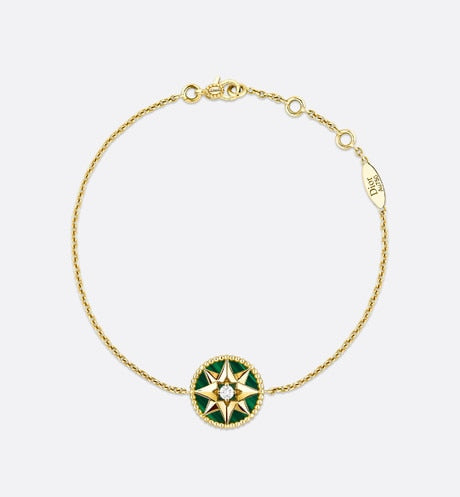 Rose des Vents Bracelet • Yellow Gold, Diamond and Malachite
