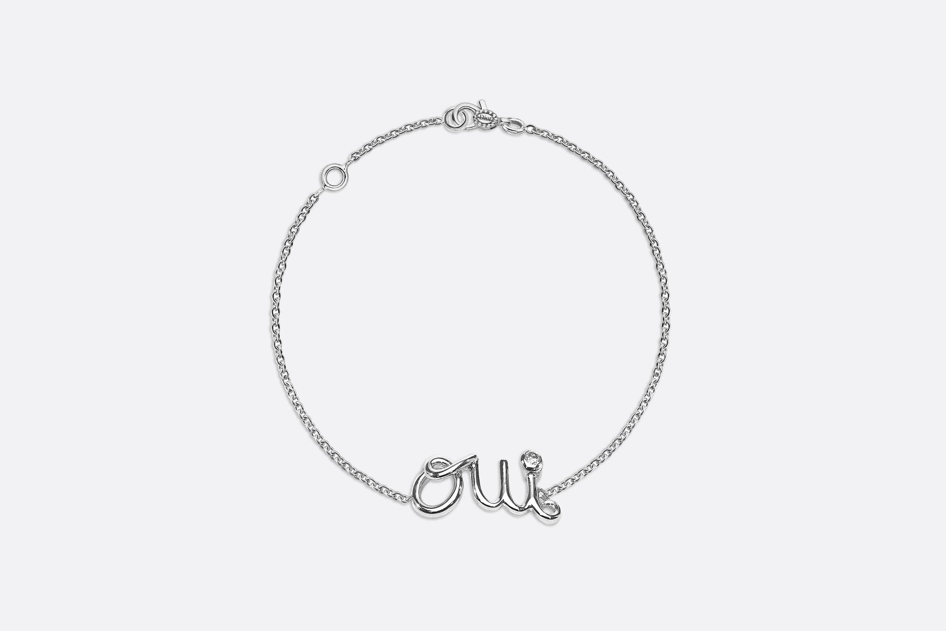 Oui bracelet in 18k white gold and diamond •