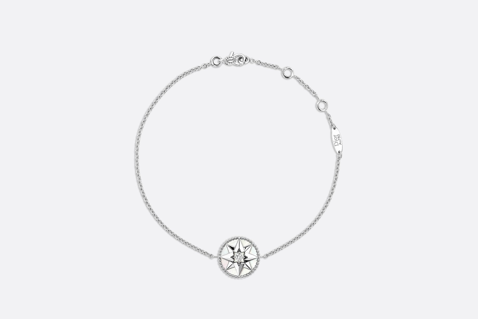 Rose des Vents Bracelet • 18K White Gold, Diamond and Mother-of-pearl