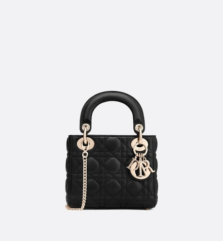 Mini Lady Dior Bag • Black Cannage Lambskin