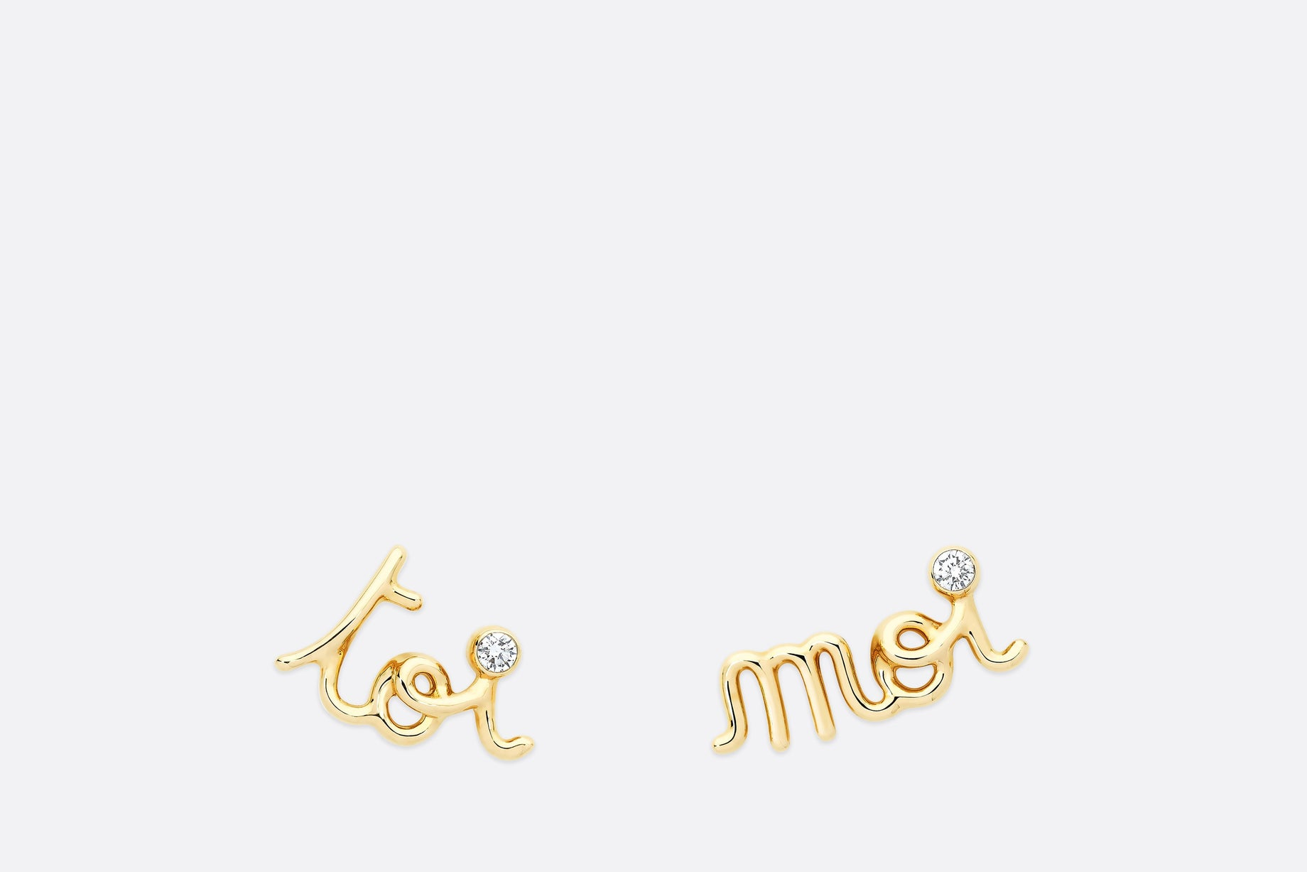 Oui Earring • Yellow Gold and Diamonds