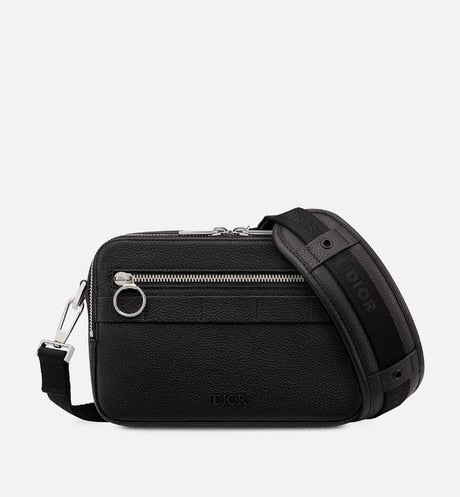 Safari Messenger Bag • Black Grained Calfskin
