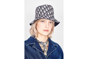 Reversible Teddy-D Dior Oblique Short Brim Bucket Hat • Black Cotton