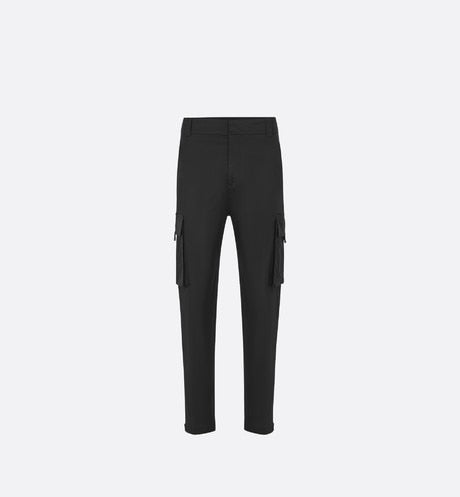 Cargo Pants • Black Stretch Cotton Gabardine